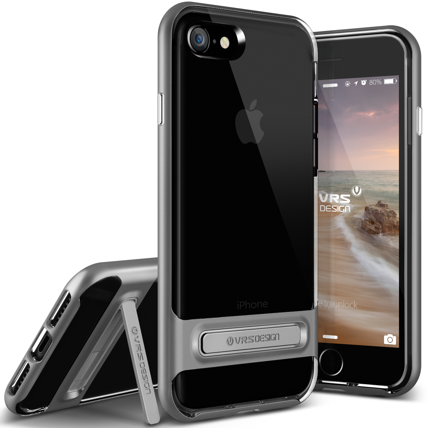 iPhone 7 Case Cover | Clear TPU with Rugged Protection | VRS Design Crystal Bumper for Apple iPhone 7