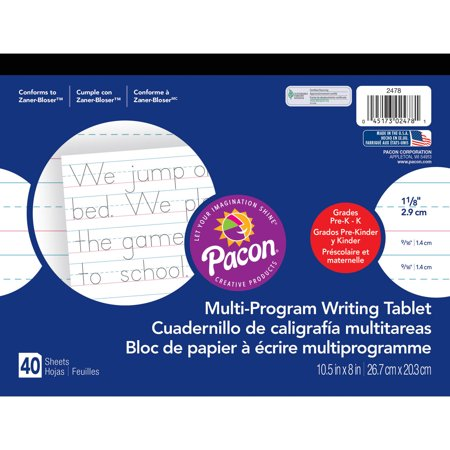 (4 Pack) Pacon Handwriting Paper Tablet, Multi-Program, Ruled Long, 40 Sheets](Paper For Wedding Programs)