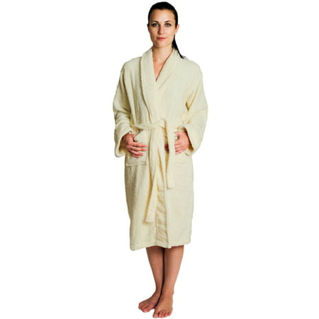 Hooded Terry Cloth Robe - NDK New York Women's and Men's Terry Cloth Bath Robe 100% Cotton