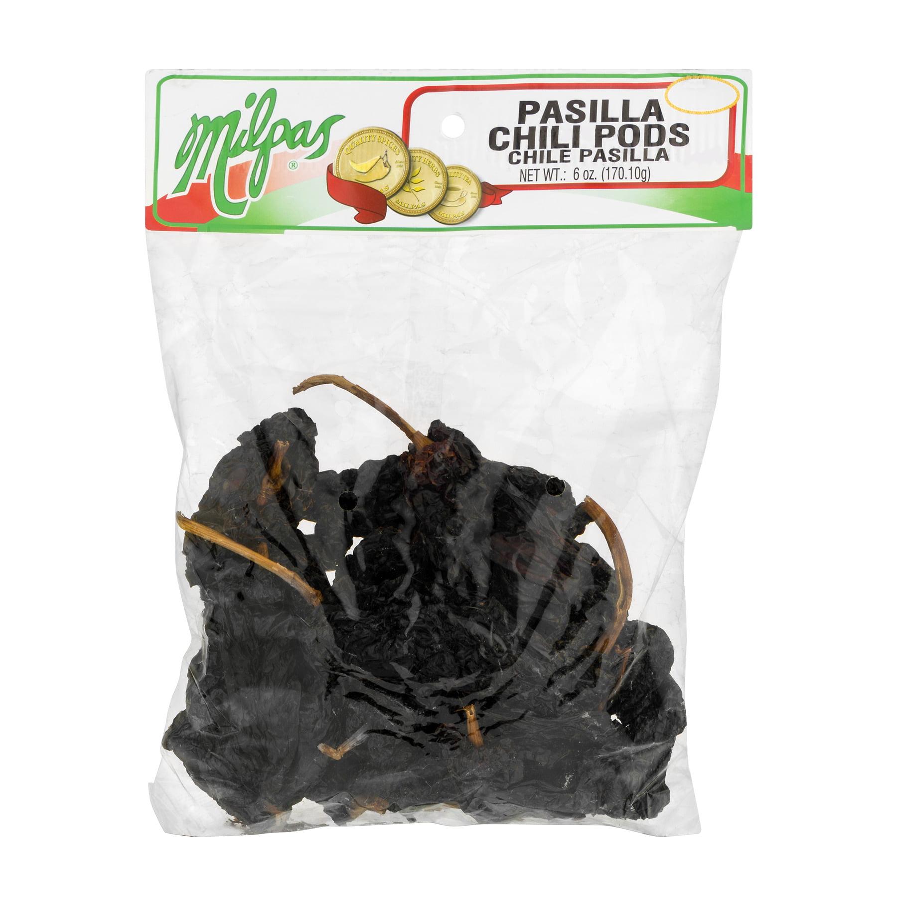 (2 Pack) Milpas Pasilla Chili Pods, 6.0 OZ