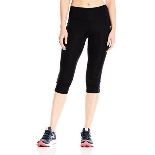 New Balance Women's Black Capri Leggings WP53853, Black, XS