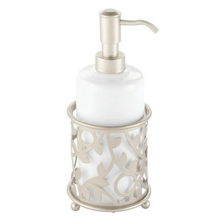 Nina Satin Pumps - InterDesign Vine Ceramic Soap and Lotion Dispenser Pump, White/Satin