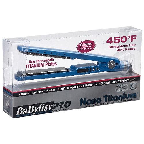 "BaBylissPRO Nano Titanium 1.25"" Titanium-Plated Straightening Iron"