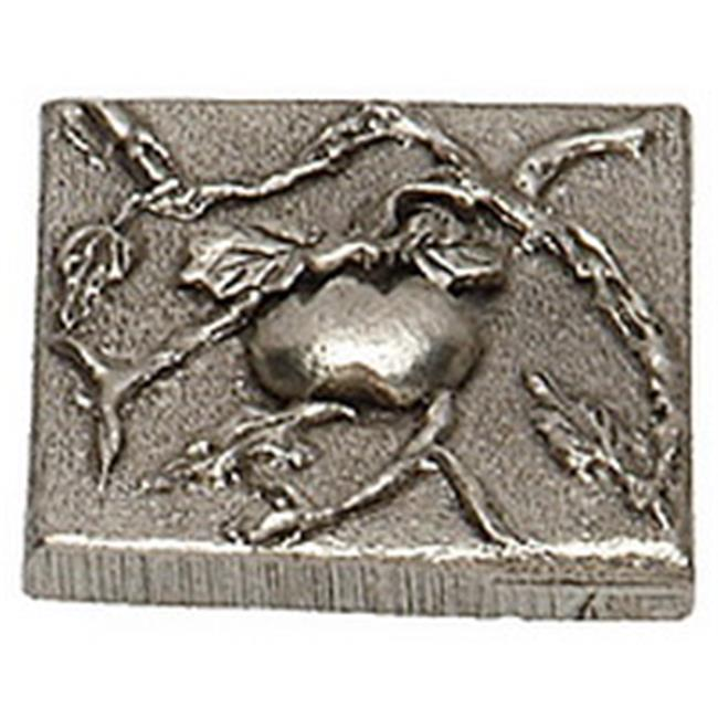 Premier Hardware Designs PHDT-2-NP Oil Rubbed Bronze Tomato Tile with Vine, 2 x 2 Inch