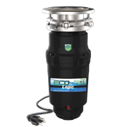 Eco Logic 1/3 HP Garbage Disposal, Continuous Feed Disposer, Attached Power Cord