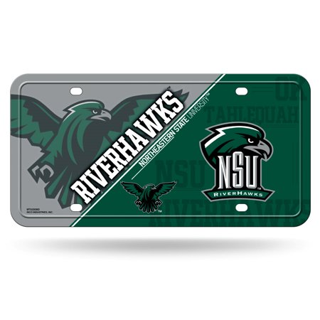Northeastern State Riverhawks NCAA 12x6 Auto Metal License Plate Tag CAR TRUCK