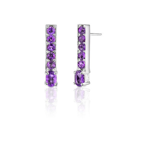 Oravo 2.00 Carats Oval and Round Cut Gemstone Earrings in Sterling Silver
