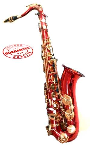 Hawk Red Tenor Saxophone with Case, Mouthpiece and Reed by Hawk