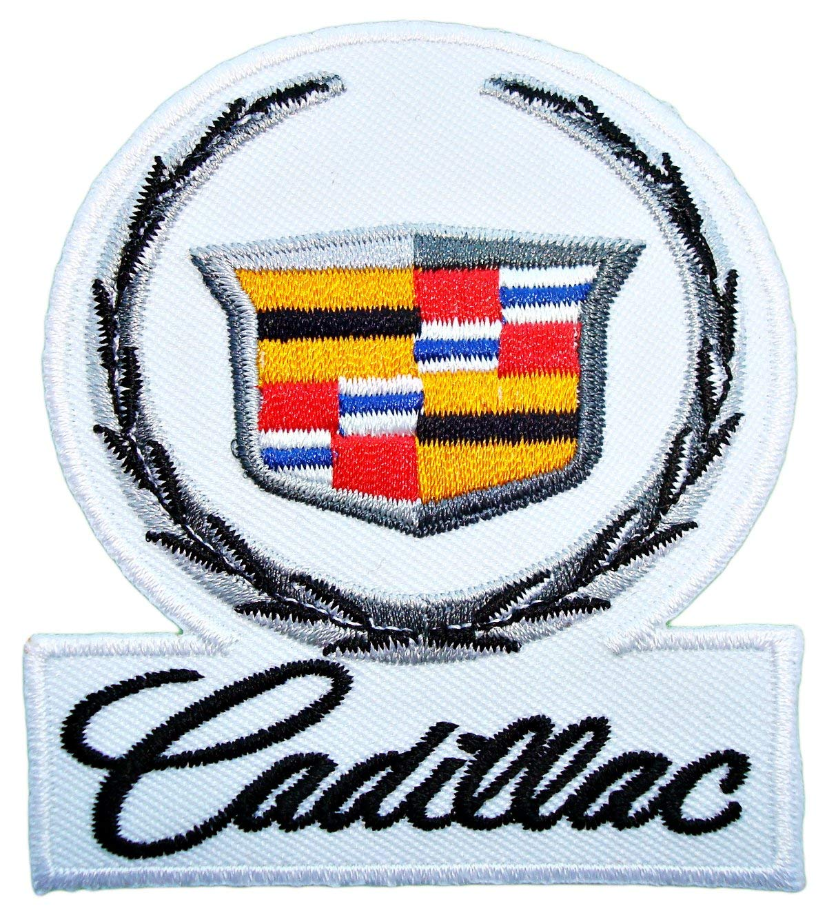 CADILLAC Cts escalade Sts Srx Cars Logo Shirt Embroidered Patch 2.75 x 2.75 inches Logo Sew Ironed On Badge Embroidery Applique Patch.