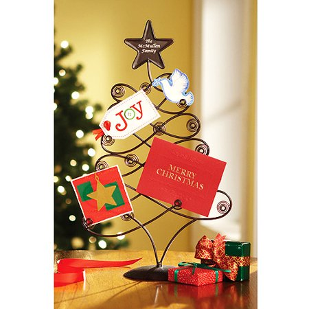 personalized metal christmas card holder - Christmas Card Tree Holder