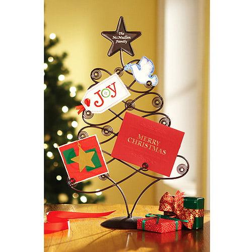 personalized metal christmas card holder walmartcom - Photo Holder Christmas Cards
