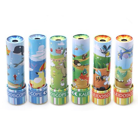 1PCS Classic Cartoon Metal Tin Kaleidoscope Color Box Package Strong Light Transmission Let the Children See a Different World Kids Gift