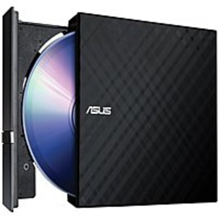 Refurbished Asus SDRW-08D2S-U/BLK/G/AS Hi-Speed USB External Slim 8x DVDRW (R DL)/DVD-RAM Stylish Cut Design Optical Drive -