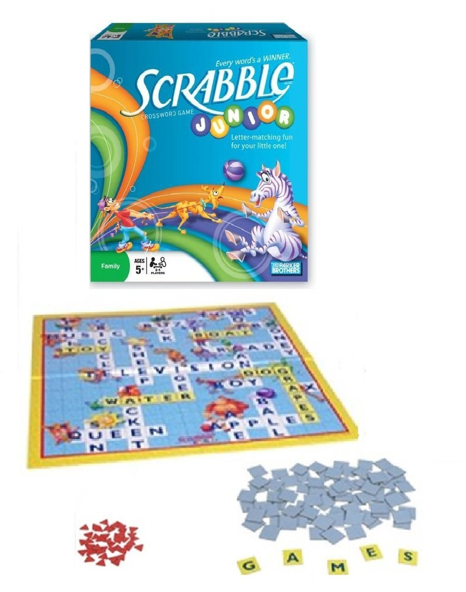 Scrabble Junior Crossword Game (2008 Vintage), Letter matching fun for your little one By... by