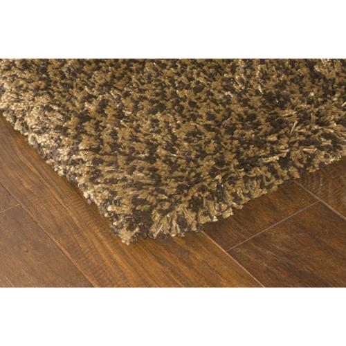 Style Haven Manhattan Tweed Brown/ Gold Shag Rug (4' x 6') - 4' x 6'