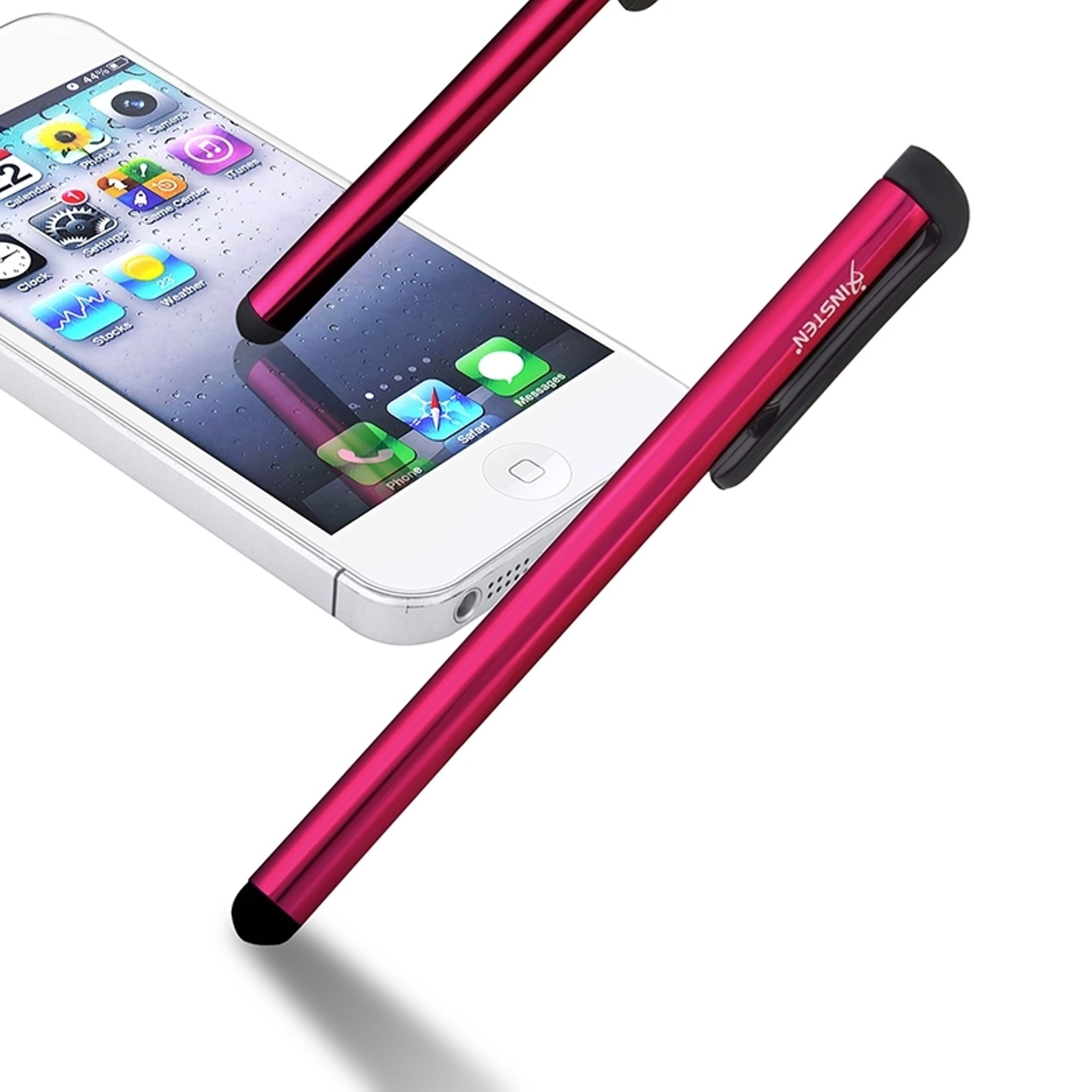 Insten Universal Touch Screen Stylus Pen Red For iPhone XS XS Max XR X7 iPad Samsung Galaxy Tab  4  LG Pad Tablet RCA iView Smartab Ematic HIGHQ Sprout Channel Nabi Nextbook Visual Land TG-TEK RealPad