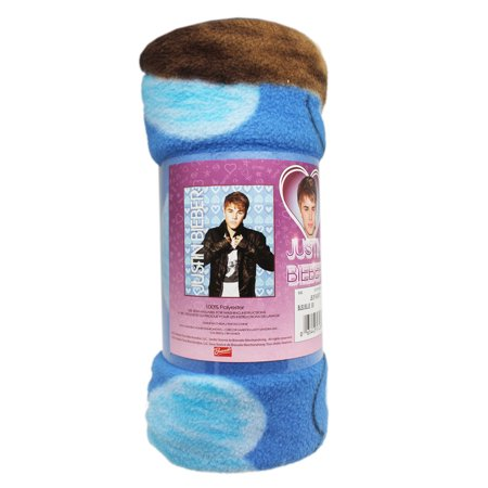 Berber Heart (Justin Bieber Shades of Blue Heart Background Fleece Throw)