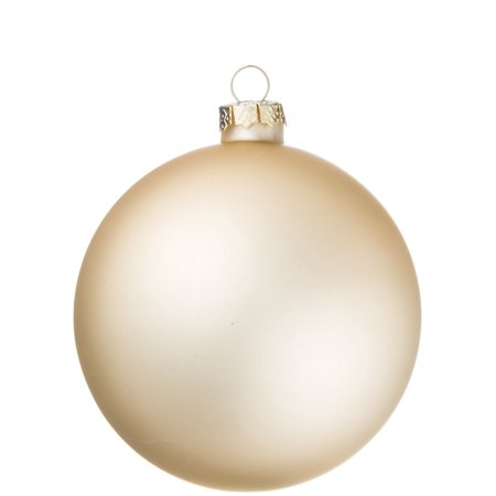 Champagne Color Christmas Ball Ornament - Matte Finish - 3