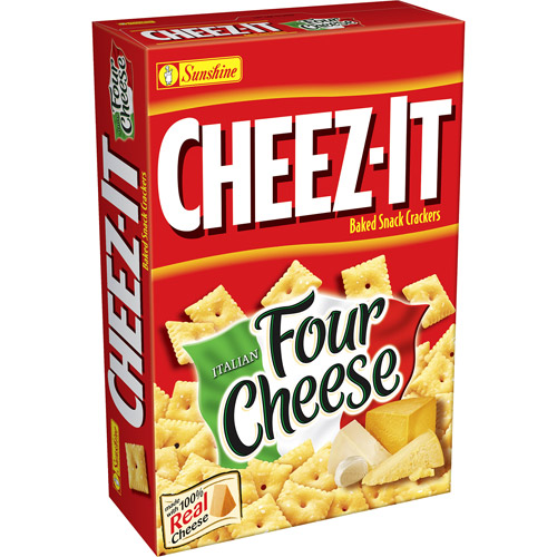Sunshine Cheez-It: Italian Four Cheese Baked Snack Crackers, 13.7 oz