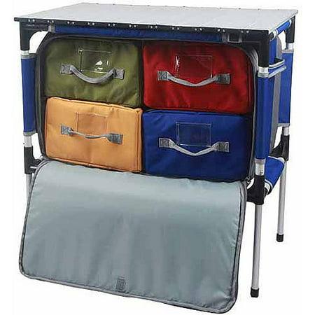 Ozark Trail Folding Table With Storage Walmart Com