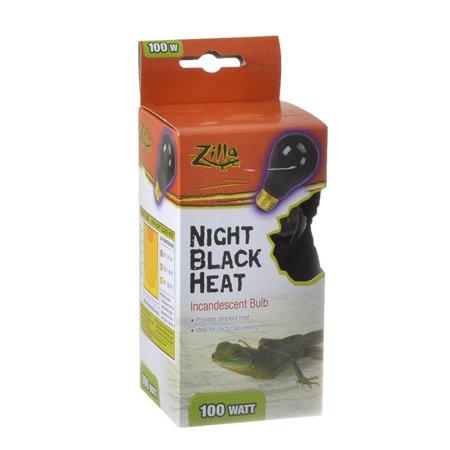 Zilla Night Time Black Light Incandescent Heat Bulb 100 Watts