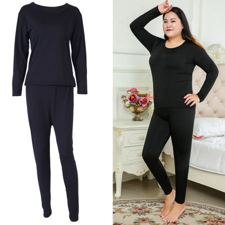 1b7efc738ccf0 Walfront - Women s Plus Size Fit for Me Fleece Lined Soft Thermal Underwear  Set Top Bottom 3XL-6XL - Walmart.com