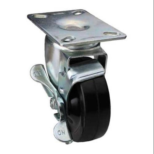 GRAINGER APPROVED Swivel Plate Caster w/Brake,240 lb,Plate Type A, DCRR05052S001G