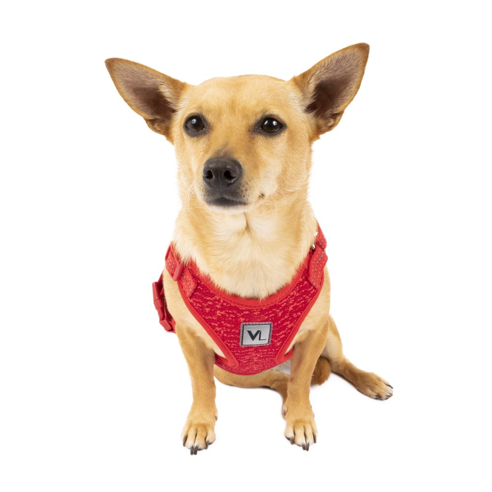 Vibrant Life Flex Knit Dog Harness, Red, X-Small