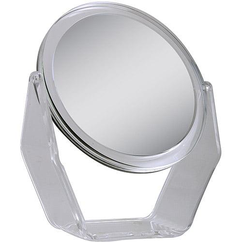 ZV08 Zadro Dual-Sided Swivel Vanity Mirror with 1x & 8x Magnification, Acrylic