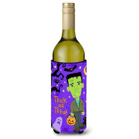 Halloween Frankie Frankenstein Wine Bottle Beverge Insulator Hugger VHA3021LITERK