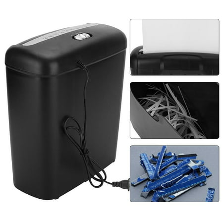 Yosoo 110V Home Office Electric Shredder for Paper and Credit Card Cross Cut Destroy (US plug), Office equipment, Heavy duty paper
