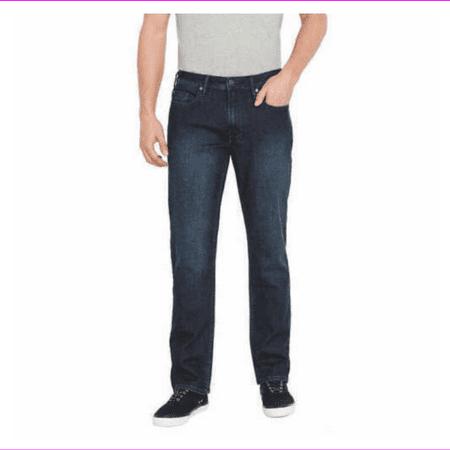 Denim Pocket Designs - Buffalo David Bitton Men's Classic 5 Pocket Design Stretch Straight Fit Jean