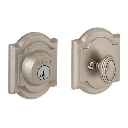 Chrome Single Cylinder Gate (Baldwin Reserve 8BR0704006 Single Cylinder Deadbolt Thick Door Kit Bright Chrome)