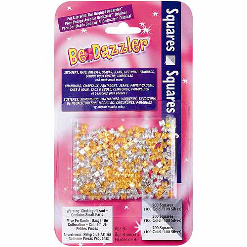 BeDazzler Stud Refill, 200-Pack, Gold/Silver