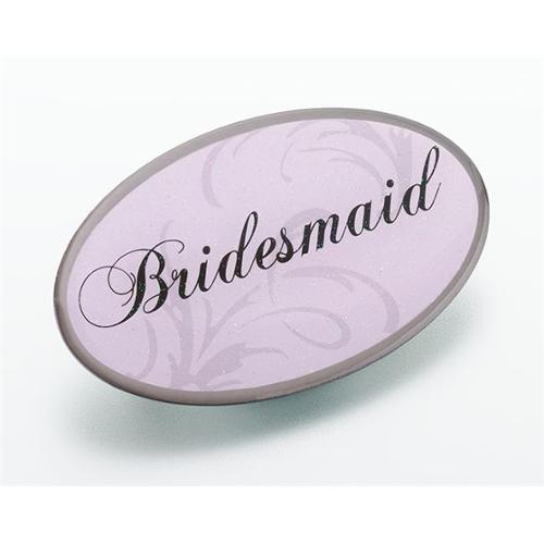Pink Oval Bridesmaid Pin