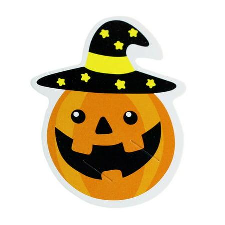 Ghost Lollipops Halloween (ZEDWELL 50PCS Pumpkin Ghost Lollipop Paper Card For Halloween Lollipop Paper Card Set Festive Party)