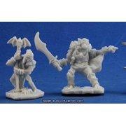 Reaper Miniatures Goblin Command (2) #77349 Bones Unpainted Plastic Mini Figure