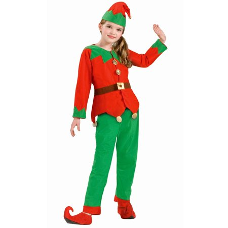 Christmas Elf Costume.Kids Unisex Elf Costume
