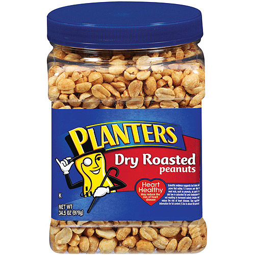 Planters Dry Roasted Party Size Peanuts With Sea Salt, 34.5 oz