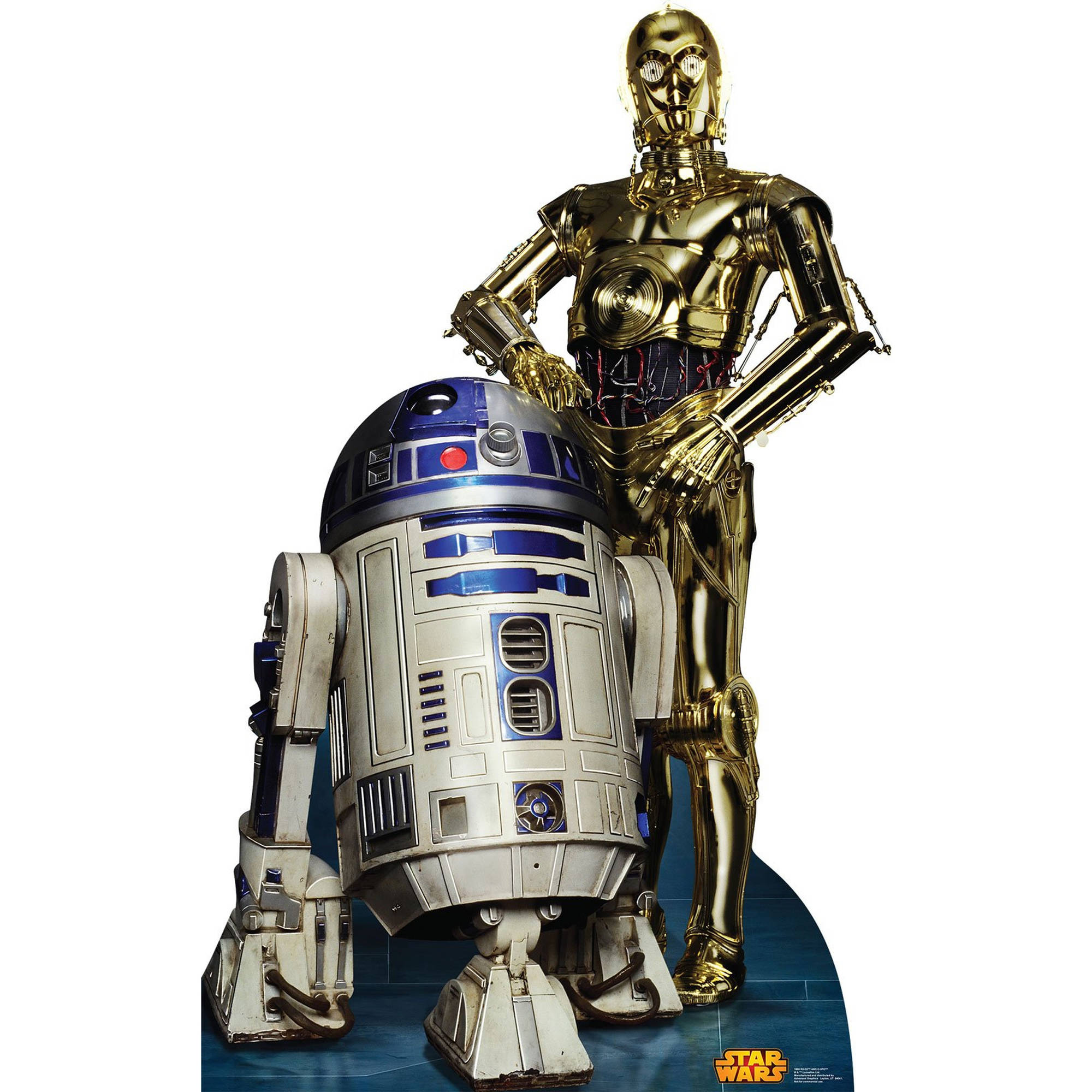Star Wars R2D2 and C3PO Standup, 6' Tall