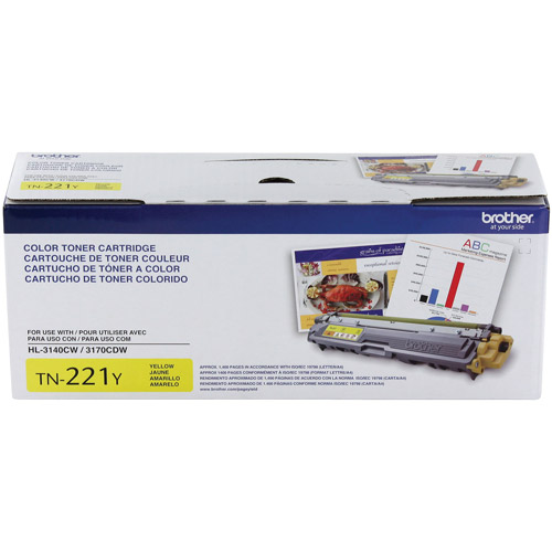 Brother TN221Y Standard Yield Yellow Toner