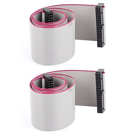 Unique Bargains 2Pcs 58Cm Length 34 Pin 2 54Mm Pitch Idc Ribbon Cable For Isp Jtag Arm