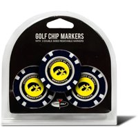 Team Golf NCAA Iowa 3 Pack Golf Chip Ball Markers
