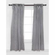 Bacati Black & White Pin Stripes Single Curtain Panel, 42 x 84 inches, 100% Cotton Percale Fabrics