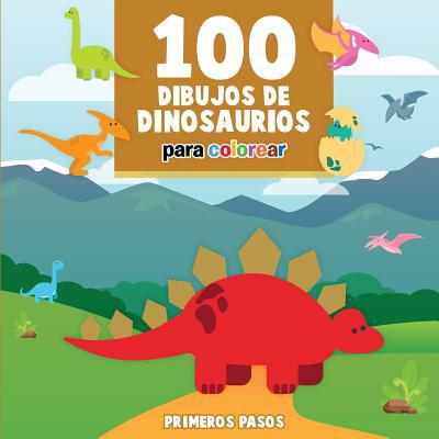 100 Dibujos de Dinosaurios Para Colorear : Libro Infantil Para Pintar - Dibujos Animados Infantiles De Halloween