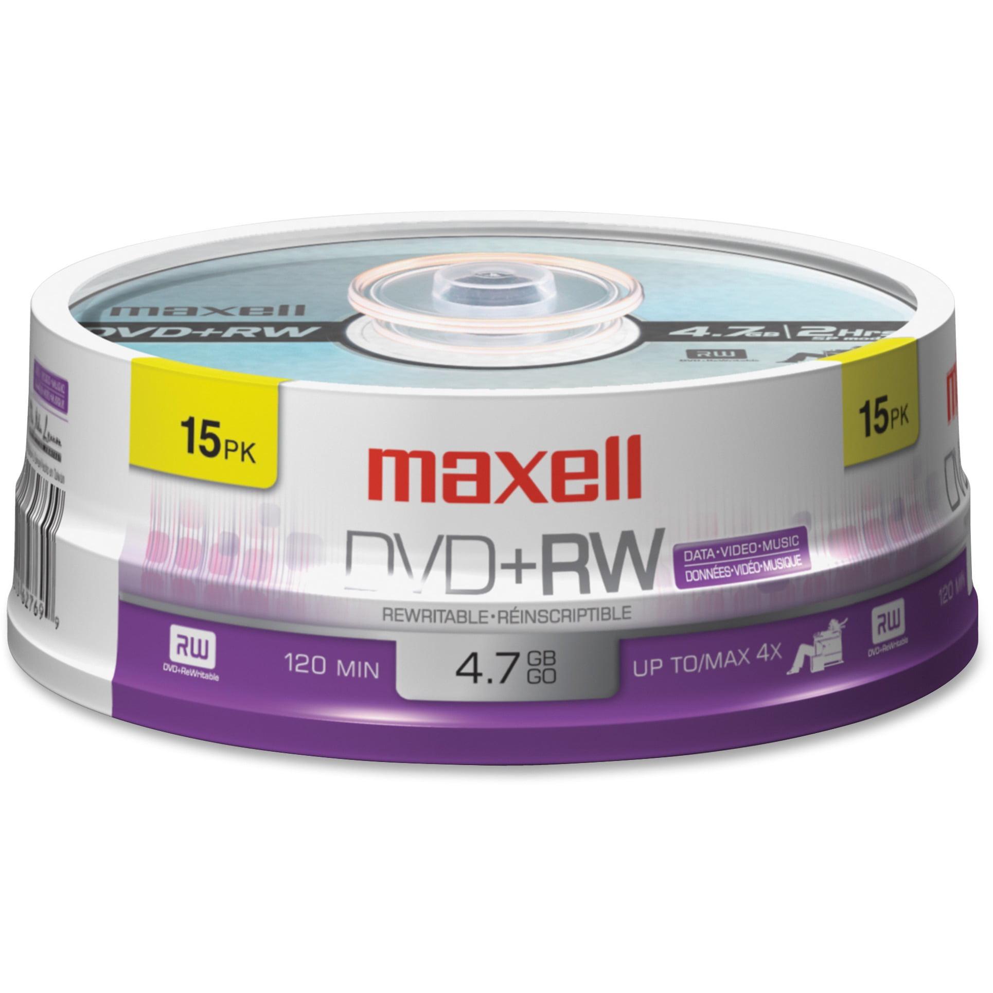 Maxell, MAX634046, 4.7GB DVD+RWs, 1