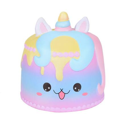 Jumbo Cartoon Unicorn Cake Squishies Scented Cream Super Slow Rising Squeeze Toy