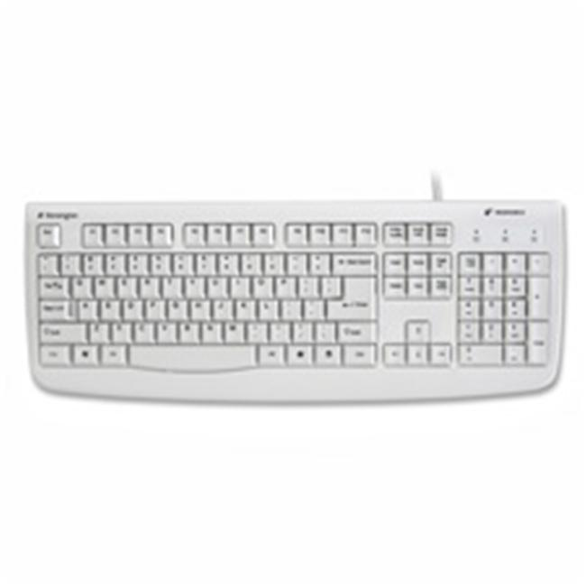 Kensington KMW64406 Washable Keyboard- Antimicrobial- 17-.75in.x6-.75in.x1in.- White
