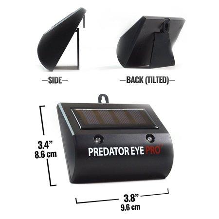 Aspectek - 4600sq ft Coverage -Predator Eye PRO - Kick Stand Solar Powered Predator Light Deterrent Animal Control - 2 Pack