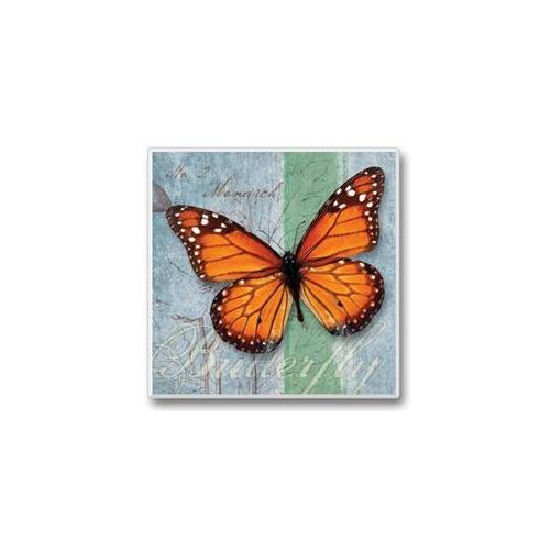 Flutter By Coasters Orange Butterfly Set of 6